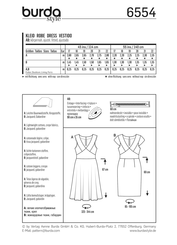 Dress, Burda 6554 - Dress Sewing Patternsfavorable buying at our shop